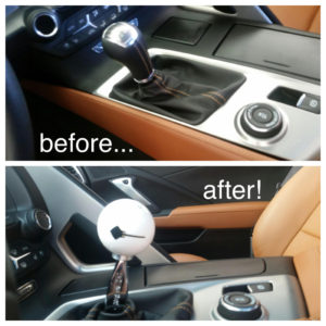 before and after custom gear shift